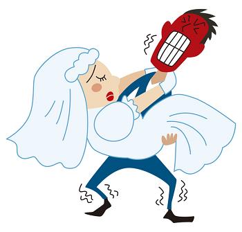 デブの女性の結婚式のイメージ