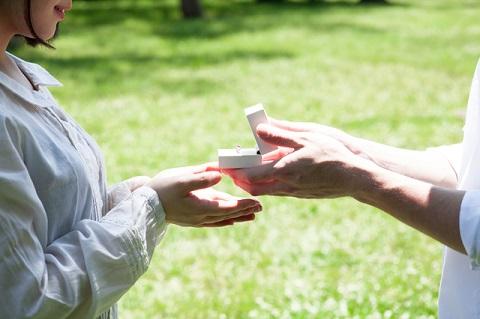 プロポーズ時の写真