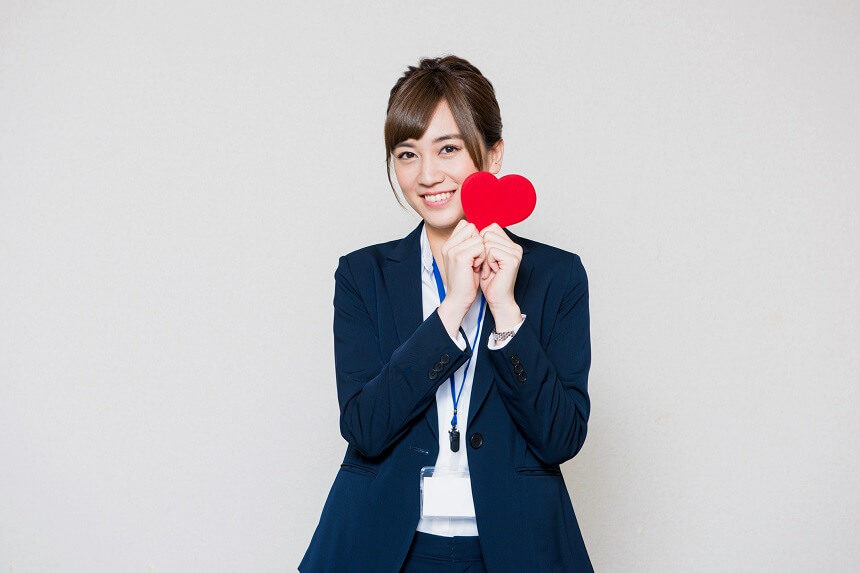 笑顔の女性OL