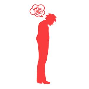 思考が停止中の男性