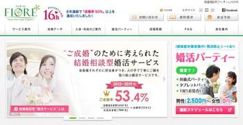 フィオーレ 岡山店のホームページスクリーンショット