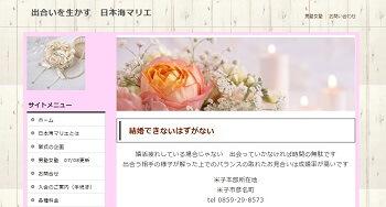 日本海マリエ 鳥取本部のホームページスクリーンショット
