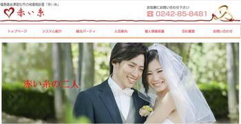 赤い糸のホームページスクリーンショット